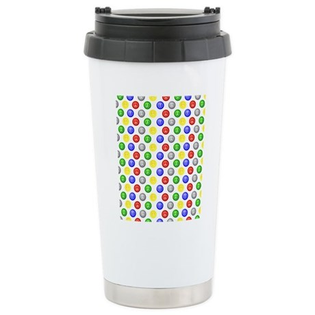 Bingo Balls Stainless Steel Travel Mug