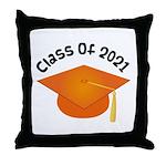 Class of 2021 (Orange) Throw Pillow