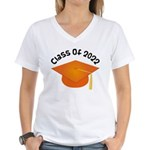 Class of 2022 (Orange) Women's V-Neck T-Shirt