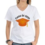 Class of 2024 (Orange) Women's V-Neck T-Shirt