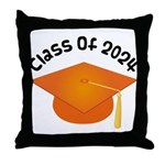 Class of 2024 (Orange) Throw Pillow