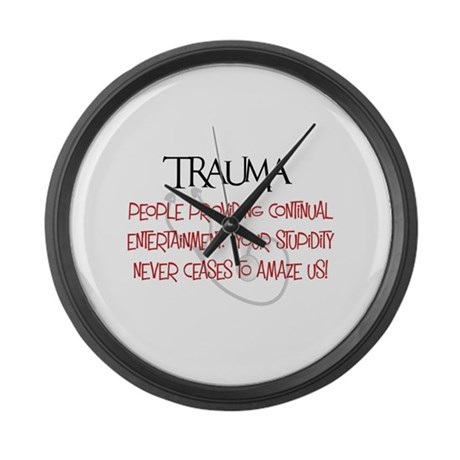 Trauma Large Wall Clock