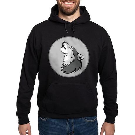 Wolf in Shades of Gray. Hoodie (dark)