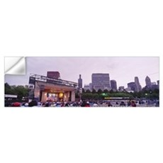 Group of people sitting at Chicago Blues Festival, Wall Decal