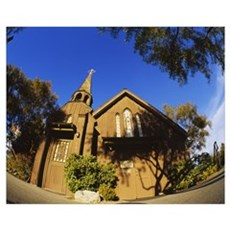 Low angle view of a church, The Little Church of t Poster