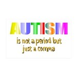 Autism is not a period 38.5 x 24.5 Wall Peel