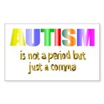 Autism is not a period Sticker (Rectangle 10 pk)