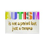 Autism is not a period Rectangle Magnet