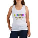 Autism is not a period Women's Tank Top