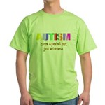 Autism is not a period Green T-Shirt