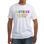 Autism is not a period Fitted T-Shirt