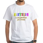 Autism is not a period White T-Shirt