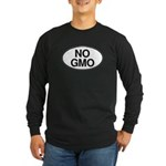 NO GMO Oval Long Sleeve Dark T-Shirt