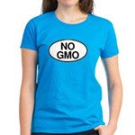 NO GMO Oval Women's Dark T-Shirt