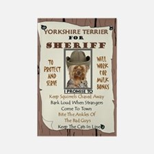 Yorkshire Terrier (Puppy Cut) Rectangle Magnet (10