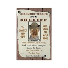 Yorkshire Terrier (Puppy Cut) Rectangle Magnet