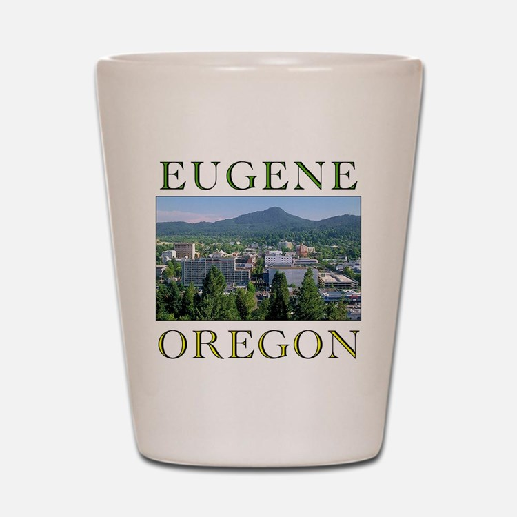 Cute Eugene oregon Shot Glass