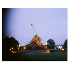 Iwo Jima Memorial, Arlington National Cemetery, Ar Framed Print