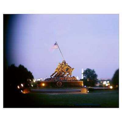 Iwo Jima Memorial, Arlington National Cemetery, Ar Poster