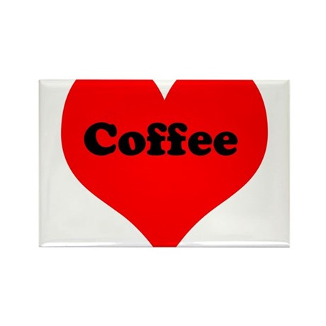 Heart Coffee Rectangle Magnet (10 pack)