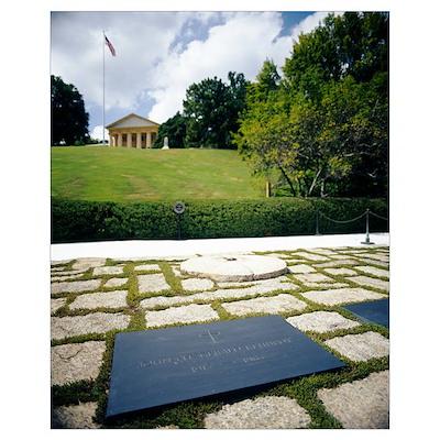 Grave of John Fitzgerald Kennedy, Arlington Nation Poster