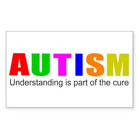 Understanding cures autism Sticker (Rectangle 10 p