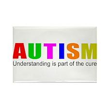 Understanding cures autism Rectangle Magnet