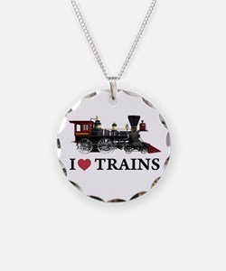 I LOVE TRAINS Necklace