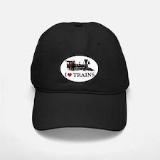 I LOVE TRAINS Baseball Hat
