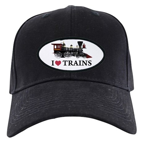 I LOVE TRAINS Black Cap