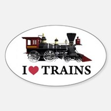 I LOVE TRAINS Decal