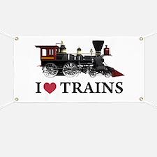 I LOVE TRAINS Banner