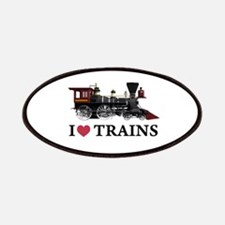 I LOVE TRAINS Patches