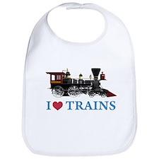 I LOVE TRAINS Bib