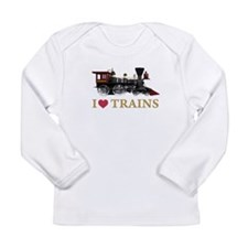 I LOVE TRAINS Long Sleeve Infant T-Shirt