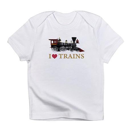 I LOVE TRAINS Infant T-Shirt