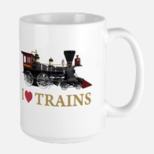 I LOVE TRAINS Large Mug