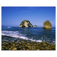 Rock in the sea, Los Arcos, Puerto Vallarta, Mexic Poster
