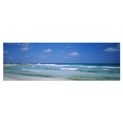 Waves on the beach, Cancun, Quintana Roo, Mexico Poster