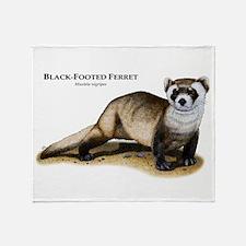 Black-Footed Ferret Throw Blanket
