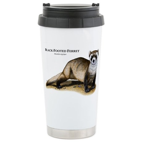 Black-Footed Ferret Stainless Steel Travel Mug