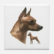 miniature pincher min pin Tile Coaster