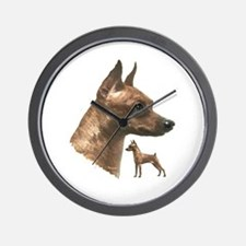 miniature pincher min pin Wall Clock