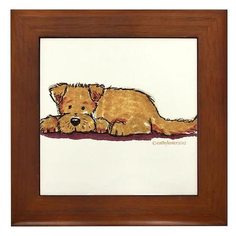 Little Dog Framed Tile