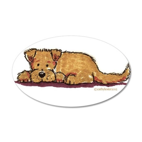 Little Dog 35x21 Oval Wall Decal