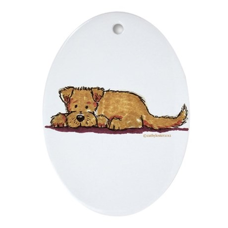 Little Dog Ornament (Oval)