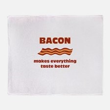 Bacon makes Everything Taste Throw Blanket