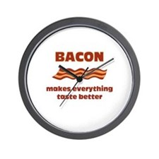 Bacon makes Everything Taste Wall Clock