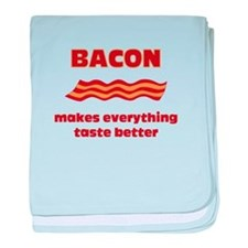 Bacon makes Everything Taste baby blanket