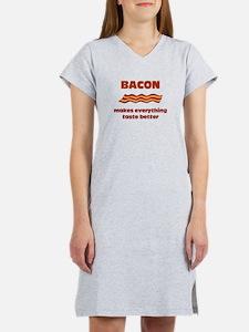 Bacon makes Everything Taste Women's Nightshirt